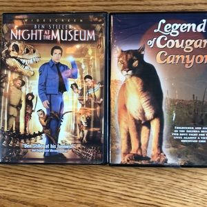 Night at the museum & Legend of cougar canyon DVD